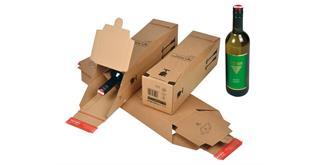 Flaschen Versandverpackungen - 362 × 115 × 115 mm
