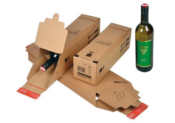 Flaschenversandverpackungen - 362 × 115 × 115 mm
