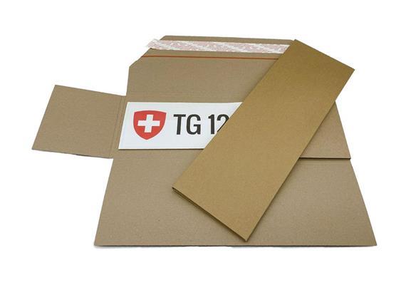 Nummernschilder-Versandverpackung mit SKV - 512 x 173 x 9 mm