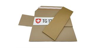 Nummernschilder-Versandverpackung
