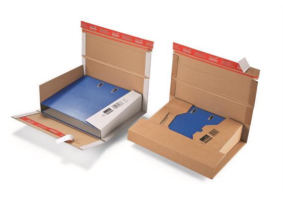 Ordnerversandverpackungen mit doppeltem Verschluss