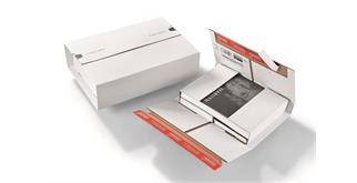 Universalversandverpackungen aus Wellpappe weiss - 298 × 205 × -85 mm