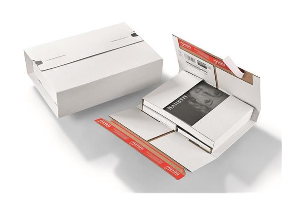 Universalversandverpackungen aus Wellpappe weiss - 397 × 275 × -80 mm