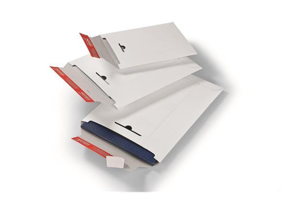 Versandtaschen aus Vollpappe in weiss - 320 × 455 mm
