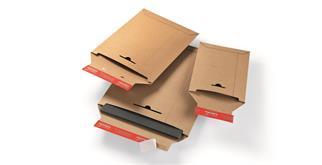 Versandtaschen aus Vollpappen in braun - 250 × 353 mm