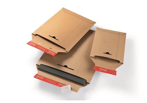 Versandtaschen aus Vollpappen in braun - 320 × 455 mm