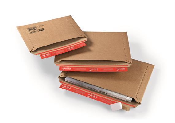 Versandtaschen mit Querbefüllung aus Wellpappe - × mm