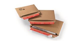 Versandtaschen mit Querbefüllung aus Wellpappe - 353 × 250 mm