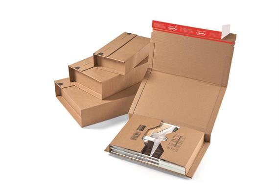 Versandverpackungen aus Wellpappe braun