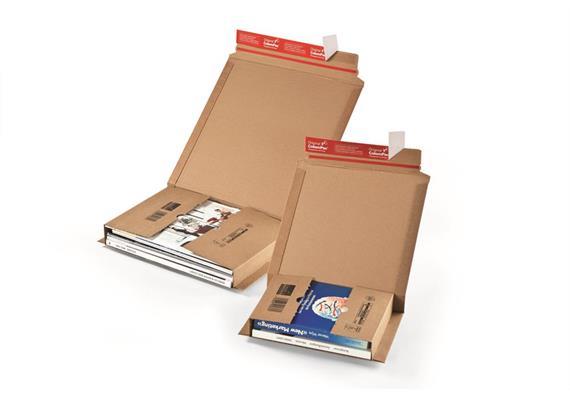 Versandverpackungen aus Wellpappe braun - 350 x 250 x -78 mm