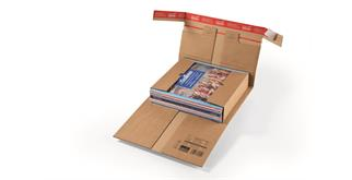 Versandverpackungen aus Wellpappe mit Sicherungslaschen - 300 × 197 × -90 mm
