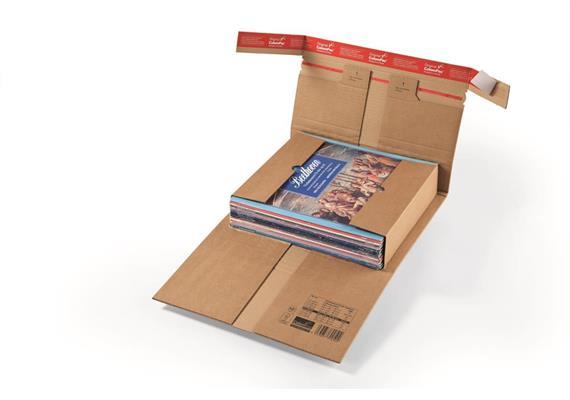 Versandverpackungen aus Wellpappe mit Sicherungslaschen - 371 × 304 × -90 mm